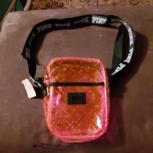 Victoria Secret Pink Transparent Travel Bag